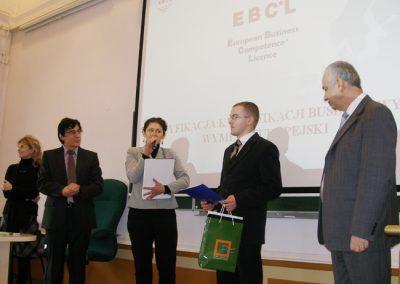 Wręczenie Europejskich Certyfikatów Kompetencji Biznesowych EBC*L.