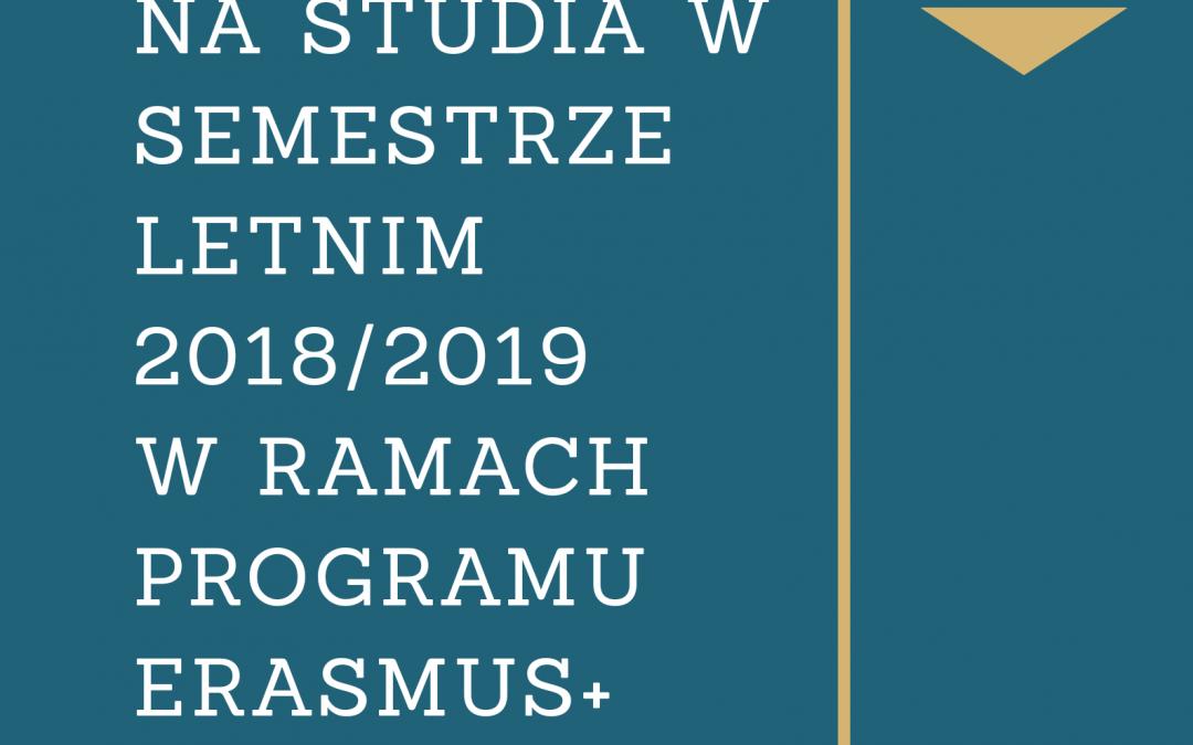 Dodatkowa rekrutacja w ramach Programu Erasmus+