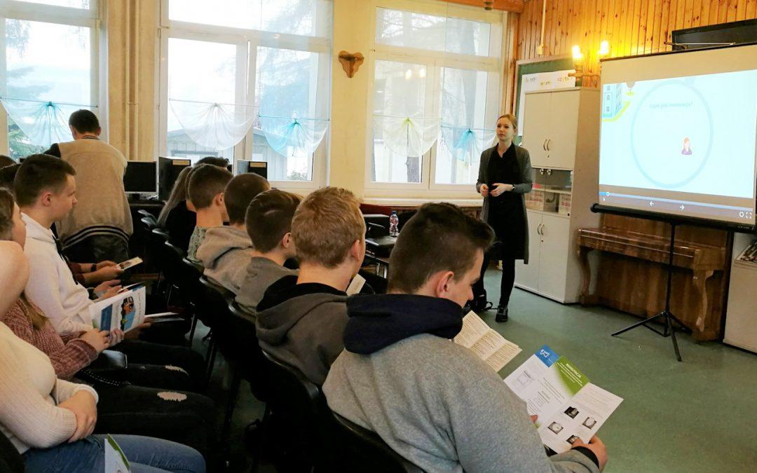 Zajęcia dedykowane uczniom Zespołu Szkół Licealno-Technicznych w Kluczborku