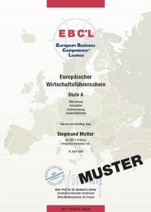 certyfikat EBCL