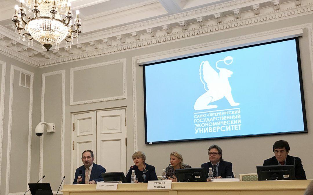 Pracownicy Wydziału Ekonomicznego na konferencji naukowej w St. Petersburgu