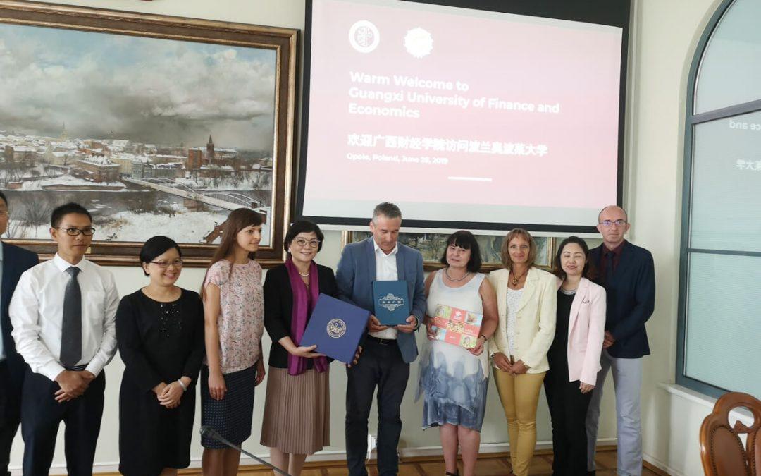 wizyta z Chin