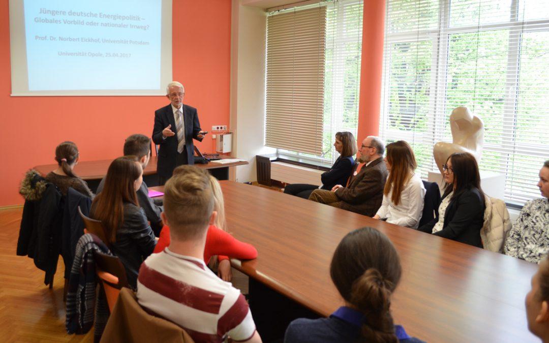 Wykład prof. dr hab. Norberta Eickhoffa z Uniwersytetu w Poczdamie